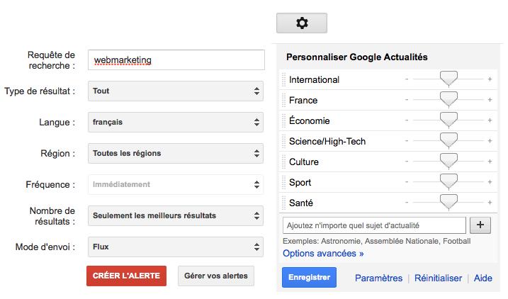 Google Alertes et Google News